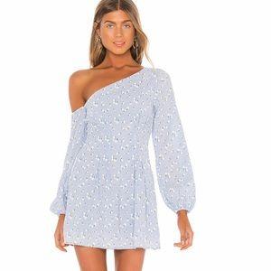 Majorelle Mandy Baby Blue Ditzy Dress